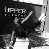 espaço de pilates com rolo
